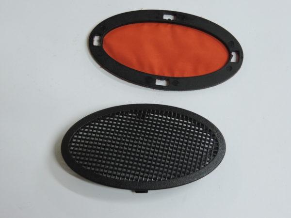 Embellecedor del modelo de capazo de jane transporter el capazo trae 6 embellecedores para permitir la entrada de aire dentro del capazo