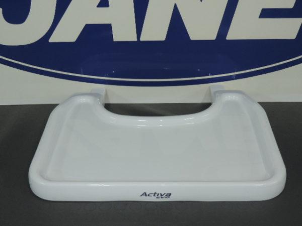 Bandeja de la trona activa en color blanco trae una bandeja superior fácil limpieza para su limpieza es para la trona que se convierte en mesa