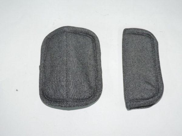 Cubre arnés color crema valen tanto para silla grupo 0 son fácil de colocar por medio de unos belcros son para que los cinturones no le rocen al bebe